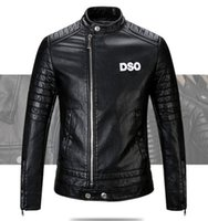 Wholesale Motorcycle Short Sleeve - New 2017 Brand men Motorcycle jacket water washed leather jacket men clothing fashion skull leather coat