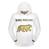 Wholesale Fashion Brands Online - Online Brand Tiger Sweatshirt Blind For Love Fashion Mens Hoodies Jumper Sweatshirts Cotton Men Jacket Coat Pullover Sports Tracksuit