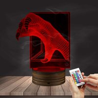 Al por mayor-1Piece Dragon Claw Switch Bubling Light Home Decor Atmósfera LED Color que cambia la lámpara Colorful Gradient Remote Controller
