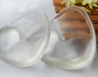 extender enhancer großhandel-Badeanzug polsterung silikon-bh-einlage Frauen Brust Pads Gel unsichtbare Drücken Brust Breast Extender Spaltung Dreieck Pads Enhancer intim