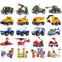 8-11 Years special buses - Toy Building Blocks Special Police Series Special Police Armored Vehicles Children Puzzle Assembled Toys car toy