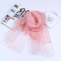 baumwoll-polyester-schals großhandel-185cm * 75cm Seide Gefühl und Baumwolle Doppelschicht Schal langen Schal dünn und weich