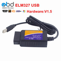 Wholesale Top Selling Diagnostic Reader - Top Selling Car Code Reader ELM327 Interface USB OBD2 Auto Diagnostic Tool ELM 327 Car Diagnostic With The CD Software Scanner