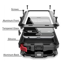 Wholesale Metal 4s Phone Cases - Brand Waterproof Dropproof Dirtproof Shockproof Phone Case for iPhone 4 4s 5 5s 5c 6 6s 7 7 plus Metal Cover