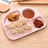 Wholesale Dinning Plates - New Arrival Kids Plate Divided Grids Dinning Dish Tray Baby Food Tableware Solid Color Children Kids Plate Food Container VT0600