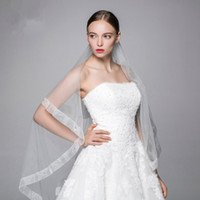 Wholesale Off White Bridal Veils - Off White Long Wedding veils 3m Long Soft Tulle Long Bridal Veils High Quality Wedding Accessories