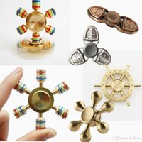 Fingerse le dita delle dita Spiral Fingers Hand Spinner Ottone acrilico Cooper Metal Fidgets Cube 3 Minutes High Speed ​​Free