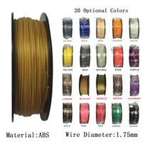 Wholesale Abs 1kg - ABS Filament 1.75mm 1kg Roll 3D Printer Filament Printer Supplies Rubber Consumables Material for Printer