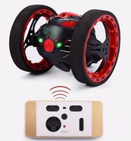Wholesale RC Car Mini Gifts PEG SJ88 G Remote Control Toys Jumping Car Second Rotation Bounce with LED Night Lights Toys