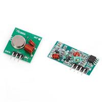 receptor transmissor sem fio de 433mhz rf venda por atacado-Atacado - RF Wireless Transmissor 433MHz Módulo W / Kit Receiver Para Arduino Controle Remoto