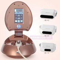 Wholesale Home Face Lift Machine - Portable Home Use Face Lift Hifu Machine With 3 Cartridges 4.5mm&3.0mm&1.5mm For Wrinkle Removal Skin Tightening Facial Hifu