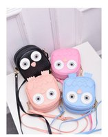 Wholesale Cute Messenger Shoulder Purse - children Cute Purse Handbag Owl Women Messenger Bags For Summer Crossbody Shoulder Bag with Belt Strap Lady Clutch Purses Phone girls gifts