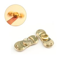 Wholesale Copper Desk - 100% Pure Brass copper Fidget Spinner Hand Spinners Gold Torqbar Style 2017 Desk better Focus Toys EDC For Killing Time For Kids Adults