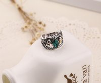 Wholesale Solitaire Emerald Rings - Ring of Barahir Aragorn Gondor The Hobbit Lord of the Rings LOTR USA Size No.7-10