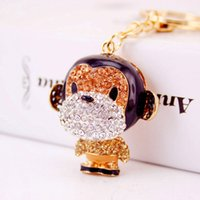 Beautiful Keychains For Girls Trendy Key Chains Pendentif animal de qualité supérieure Monkey Key Rings For Car Wholesale