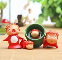 Wholesale Ponyo Figure Pvc - Studio Ghibli Toy Kawaii Ponyo on the Cliff Action Figures Figures Anime Doll Gift For Child Wholesale
