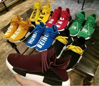 Wholesale Real Lawn - Human Race Being HU HUMAN RACE SPIECES Pharrell Williams X NMD Running Shoes Sneaker Real Boost Yellow Red Blue Green Black