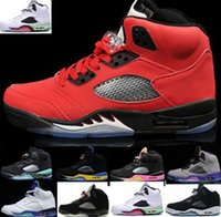 wholesale dealer 5dfb2 cecb4 Barato 5s Rojo Suede CDP Cemento blanco Zapatos de baloncesto Mujer Hombre 5  Zapatillas de deporte Oreo Zapatos de atletismo Negro Uva Oreo Zapatillas  11 36 ...