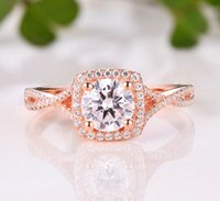 Wholesale Diamond Semi Mount Rings 6mm - 14K White Gold Round 6MM Semi Mount Ring   Engagement & Wedding Ring