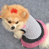 Chic Pet Dog Polka Dot Tutu Dress Puppy Кружевная юбка Silk Princess Party Clothes WX