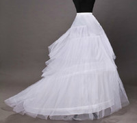 Wholesale wedding gowns free shipping - Wholesale Free Shipping Asymmetrical Quinceanera Ball Gown wedding petticoat hoop skirt panniers underskirt with train