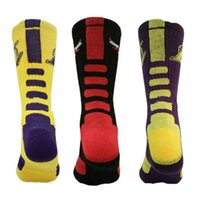 Wholesale Star Sports Wholesale - USA brand new colorful high quality elite mens thick cool cushion sole basketball star socks fashion mens sports outdoor crew knee high sock