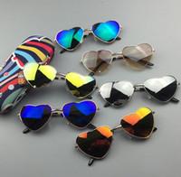 Wholesale Baby Toy Frame - Kids Sunglasses Baby Boys Girls love heart Brand Designer Sunglasses Kids Children Sun Glasses Beach Toys UV400 Sunglasses Sun Glasses T4839