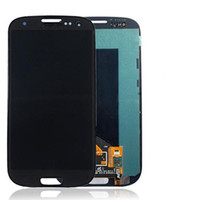 Wholesale I747 Digitizer Blue - AAA Quality 2016 New LCD Lens Screen+Touch Digitizer Assembly For Samsung Galaxy S3 i9300 i9305 T999 I747 display Blue White Free Shipping