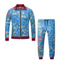 Wholesale Sweat Suit Cartoon - 2017 New Fashion Flowers 3 d printing Sport suit Men WOMEN Cartoon Anime suit zipper Long sleeve Sleeve Tops Cotton hoodie Sweats M-3XL