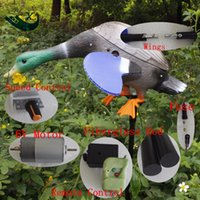 Wholesale Decoy Ducks - Wholesale- Xilei Outdoor Hunting Wind Duck Drake Mallard Wind-Powered Spinning-Wing Decoy