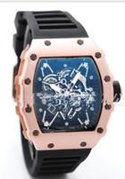 Wholesale Skeleton Watch Bronze - luxury Big Bang leisure fashion New brand Skull sport Watches men Casual Fashion Skeleton quartz hh