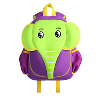 Wholesale neoprene bags children - 3D School Bag Waterproof Animals Cartoon Elephant Backpack Neoprene Kids Baby Bags Children School Bags For Girls Boys Mochila