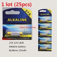 Wholesale 27a 12v battery for sale - Group buy 25pcs A V A12V V27A L828 dry alkaline battery Volt Batteries card