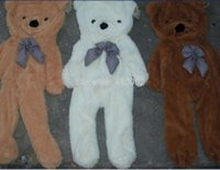 Wholesale Empty Teddies - Wholesale- Factory price!!! 3colors Empty 170cm- 180cm teddy bear toys skin Stuffed Animals & Plush Toys Free shipping