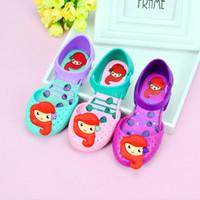 dhl sandaletler toptan satış-Melissa jöle ayakkabılar mermaid Kore versiyonu güzel prenses ayakkabı toptan, yaz yeni kız sandalet DHL