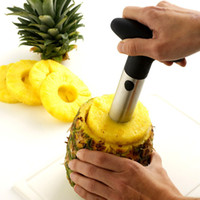 Wholesale Wholesale Plastic Box Cutters - Pineapple Peeler Stainless Steel Pineapple knife Creative Multi-function Cutter Parer Pulp separator Corer Slicer 3 colors With Retail Box