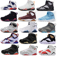Wholesale Roses Cut - Air retro 7 men basketball shoes UNC Pantone University blue Tinker Alternate Olympic Hares Bordeaux Cigar Cardinal French Blue GMP Sneakers