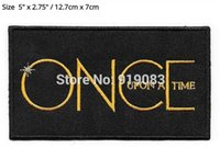 """Wholesale Iron Books - 5"""" Once Upon A Time TV Series Book Image LARGE Patch tv movie series Embroidered Iron on Badge cosplay Halloween Costume party favor"""