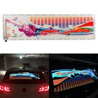 NUOVA 90x25cm Flash Music Rhythm LED Lampada luminosa Sound Activated Equalizer Car Sticker
