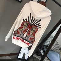 Wholesale Oversized Jumpers - Brand Designer Women Luxury Embroidered Hoodies 2017 Fashion Autumn Winter Hooded Sweatshirts Casual Oversized Pullovers Jumpers Coats