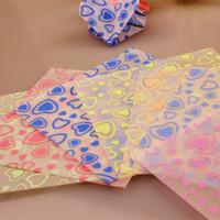 Wholesale Friends Decorations - Free Shipping(70 sheets set)7 Colors Luminous Peach Heart Handcraft Origami Paper Cranes DIY Paper Decoration Friend Gifts