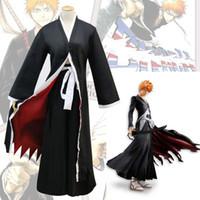Wholesale bleach ichigo full cosplay for sale - Bleach Kurosaki Ichigo Arrancar Cosplay Costume