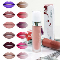 1PCS Sexy New Brand Dosed Liquide Lip brillant Coloré Matte Kit Rouge à Lèvres Waterproof Long Durable Lip Stick Lipgloss Retail Package