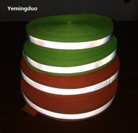 Wholesale Apparel Tape - 5CM*100M High Visibility Fluorescent Green Orange Reflective Ribbon Warning Safety Tape Apparel Sewing Notions traffic safety warning strip
