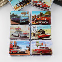 Wholesale Tin Card Boxes - New Design Tin Box Sealed Jar Packing Metal Food Storage Box 8Piece Lot Rectangle Make Up Box For Tea Medicine Card Small Things