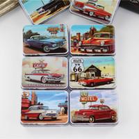 Wholesale Tin Box Cards - New Design Tin Box Sealed Jar Packing Metal Food Storage Box 8Piece Lot Rectangle Make Up Box For Tea Medicine Card Small Things
