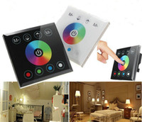 Wholesale Touch Screen Dimmers - DC12V-24V 4CH RGBW Touch Panel Screen Dimmer LED Dimmer RGB Touch Controller Light Switch for RGBW LED Strip