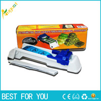 Wholesale Vegetable Sushi - New hot sale Dolmer magic roll sushi maker DOLMER vegetable and meat roller sueful kitchen tools free shipping