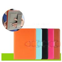 ipad maletines de cuero al por mayor-Funda de cuero para iPad Air Pro y Mini 1 2 3 4 5 6 Porta Maletas Retro Carcasa Despertador automático y Bolsa de dormir Cubierta plegable