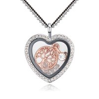 Wholesale Christmas Box Pendant - Fashion Costume Accessories Jewelry Austrian Crystal Heart Life Christmas tree Pendant Magic Box Open Real Gold Sweater Necklaces For Women